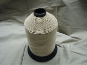 Military Thread Cotton White 7 Ply Glazed Finish Size 8 Lot Of 25 Spools