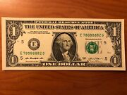 Lucky 8888 Solid Quad - Trinary-repeater 1 Dollar Bill, Unique Serial Number