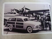1949 Ford Woody Wagon And Airplane 11 X 17 Photo Picture