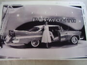 1957 Plymouth Auto Show Display 11 X 17 Photo Picture