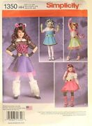 Girls Monster High Costumes Size 3-6 New Sewing Pattern Simplicity 1350 Hh
