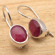 Bulk Wholesale Lot Packs Simulated Ruby Earrings, 925 Silver Plated Fashion