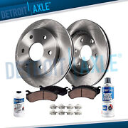 Front Brake Rotors And Brakes Pads Cleaner Fluid Ford F150 Expedition Rotor Pad