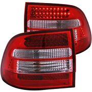 Fits 03-06 Porsche Cayenne Tail Lights Left And Right Pair W/ Red And Clear Lens
