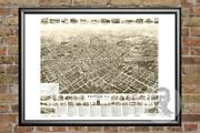 Old Map Of Westfield Nj From 1929 - Vintage New Jersey Art Historic Decor