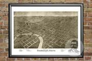 Old Map Of Columbus, Oh From 1872 - Vintage Ohio Art, Historic Decor