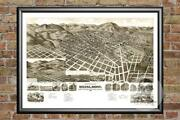 Old Map Of Helena Mt From 1890 - Vintage Montana Art Historic Decor