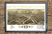 Old Map Of Kent, Oh From 1882 - Vintage Ohio Art, Historic Decor