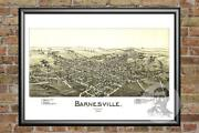 Old Map Of Barnesville, Oh From 1899 - Vintage Ohio Art, Historic Decor