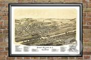 Old Map Of Fort Plain, Ny From 1891 - Vintage New York Art, Historic Decor