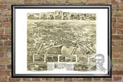 Old Map Of Dover Nj From 1903 - Vintage New Jersey Art Historic Decor