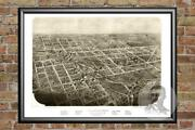 Old Map Of Albion Mi From 1868 - Vintage Michigan Art Historic Decor