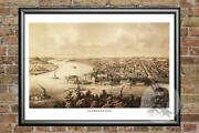 Old Map Of Parkersburg, Wv From 1861 - Vintage West Virginia Art Historic Decor