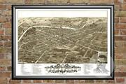 Old Map Of Yougstown, Oh From 1882 - Vintage Ohio Art, Historic Decor