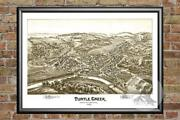 Old Map Of Turtle Creek Pa From 1897 - Vintage Pennsylvania Art Historic Decor