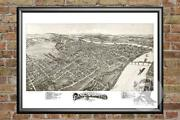 Old Map Of Parkersburg, Wv From 1899 - Vintage West Virginia Art Historic Decor