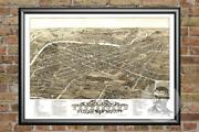 Old Map Of Youngstown, Oh From 1882 - Vintage Ohio Art, Historic Decor
