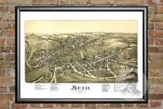 Old Map Of Scio, Oh From 1899 - Vintage Ohio Art, Historic Decor