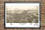 Old Map Of Chambersburg Pa From 1885 - Vintage Pennsylvania Art Historic Decor