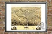 Old Map Of Elyria, Oh From 1868 - Vintage Ohio Art, Historic Decor