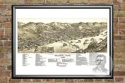 Old Map Of Bellaire, Oh From 1882 - Vintage Ohio Art, Historic Decor