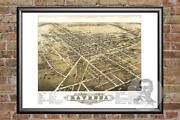 Old Map Of Ravenna, Oh From 1882 - Vintage Ohio Art, Historic Decor