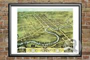 Old Map Of Warren, Oh From 1870 - Vintage Ohio Art, Historic Decor