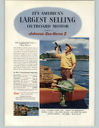 1952 Paper Ad Johnson Sea Horse Outboard Motor 5 3 10 25 Hp Lobster Fishing Trap