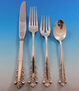 Belle Meade By Lunt Sterling Silver Flatware Set For 8 Service 32 Pieces