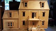 Hofco Federal Victorian Front-opening Dollhouse Kw-174unfinished With 2 Annexes