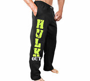 New Mens Monsta Clothing Fitness Gym Sweatpants - Hulk Out