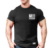New Menand039s Monsta Clothing Fitness Gym T-shirt - War Flag