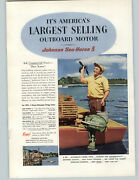 1952 Paper Ad 5 Hp Johnson Sea Horse Outboard Motor 3 10 25 Lobster Fishing