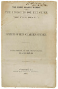 Crime Against Kansas Signed By Charles Sumner - Speech Caused Sumnerand039s Caning