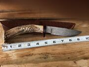 Raleigh Tabor Stag Knife Custom Unique See The Details Collectors Knife