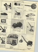 1954 Paper Ad Mechanical Toy Tops Army Jeep Soldiers Spark Stove Magnetic Crane