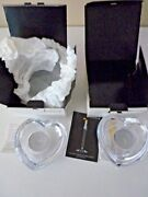 Vintage Orrefors Sweden Crystal Candle Holders Set Of Two - Signed - New W/box