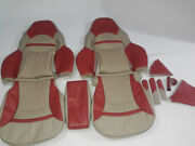 1997-2004 C5 Corvette Leather Replacement Seat Covers Light Oak And Torch Red Kit