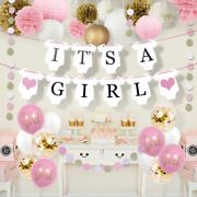 Sweet Baby Co. Shower Decorations For Girl With It's A Banner, Paper Lanterns, F