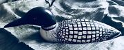 Decorative Competative Wood Hand Carved Loon Decoy By Tom Trepanier