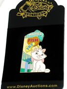 Rare Le Disney Auctions Pin✿ Aristocats Kitten Marie Fish Fry Market From 2004