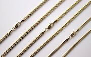 10k Solid Yellow Gold Miami Cuban Link Chain Necklace Men Women 2.56mm 1830