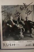Rush Signed 8x10 Promo Photo Neil Signed 2 Timesin Person