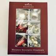 Hallmark 2018 Miniature Glass Baubles Christmas Ornaments Set Of 6 Sold Out New