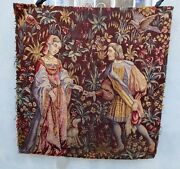 A 19th Century Wool And Silk Medieval Style Tapestry