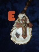 Oyster Shell Rosaries Christian Religious Blessed Crystal Wood Metal Large