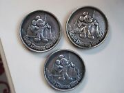 Set Of 3 Polished Mickey Mouse Disney World Collectible Coins Medalions