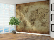 Vintage Distressed World Map Photo Wallpaper Wall Mural 4302066 Map