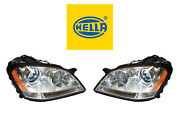 New Mercedes-benz Pair Set Of Left And Right Xenon Headlights Hella