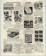 1964 Paper Ad Crescent Toy Hand Painted Soldiers Cowboys Indians Union Confed
